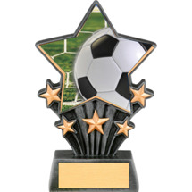 Soccer Resin Super Star Trophy - 6 1/2""