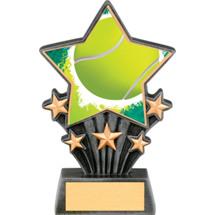 "Tennis Resin Super Star Trophy - 6 1/2"""