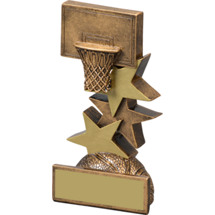 "Basketball Trophy - 5 1/4"" Basketball Star Step Resin Trophy"