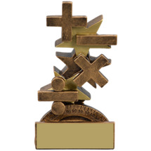 "Math Trophy - 5 1/4"" Academic Star Step Resin Trophy"