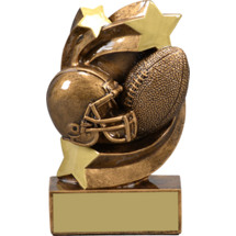 "Football Trophy - 5 1/4"" Football Star Swirl Resin Trophy"
