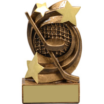 "Hockey Trophy - 5 1/4"" Hockey Star Swirl Resin Trophy"