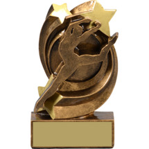 Jazz Dance Trophy - Jazz Star Swirl Resin Trophy