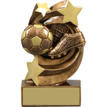 "Soccer Trophy - 5 1/4"" Soccer Star Swirl Resin Trophy"