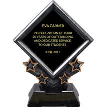 "7"" Diamond Plaque Resin Award"