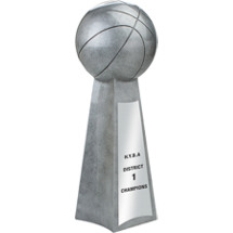 Resin Championship Basketball Trophy