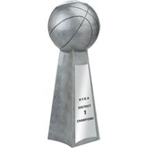 Resin Championship Basketball Trophy