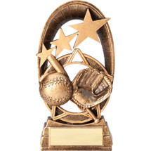 Baseball Radiant Resin Trophy