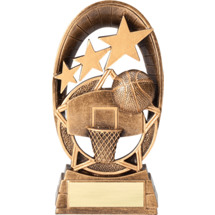 Basketball Radiant Resin Trophy