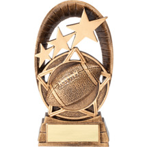 Football Radiant Resin Trophy - 6 1/2""