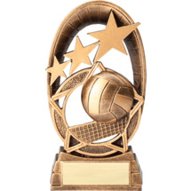 Volleyball Radiant Resin Trophy - 6 1/2""