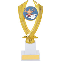 Education Trophy - Large Lamp of Learning Falcon Riser Trophy