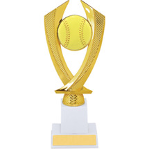 Softball Trophy - Large Softball Falcon Riser Trophy