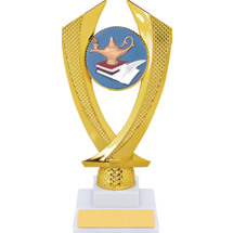 Education Trophy - Medium Lamp of Learning Falcon Riser Trophy
