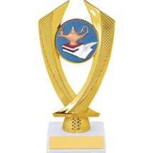 Education Trophy - Small Lamp of Learning Falcon Riser Trophy