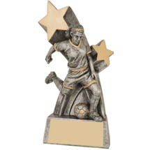 Female Soccer Super Star Resin Trophy