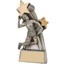 Female Volleyball Super Star Resin Trophy - 6""