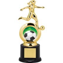 Soccer Trophy - Female Player with Black Acrylic Base