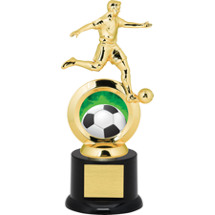 Soccer Trophy - Male Player with Black Acrylic Base