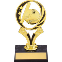 Baseball Trophy - Baseball Trophy With Midnite Star Riser