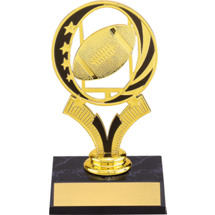 Football Trophy - Football Trophy With Midnite Star Riser