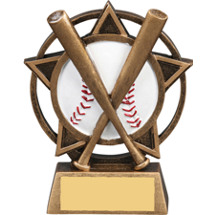 Baseball Star Orbit Resin Trophy
