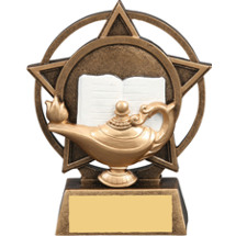 Lamp of Learning Star Orbit Resin Trophy