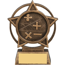 Math Star Orbit Resin Trophy