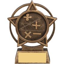 Math Star Orbit Resin Trophy