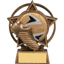Soccer Star Orbit Resin Trophy