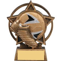 Soccer Star Orbit Resin Trophy