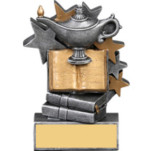 Lamp of Learning Star Blast Resin Trophy