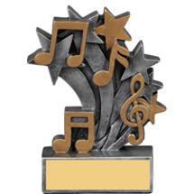 Music Star Blast Resin Trophy