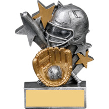 Softball Star Blast Resin Trophy