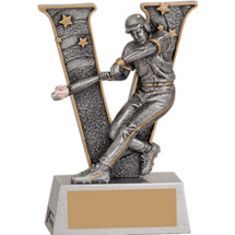 Victory Baseball Male Resin Trophy - 5""