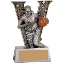 Victory Basketball Female Resin Trophy - 5""