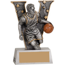 Victory Basketball Male Resin Trophy - 5""