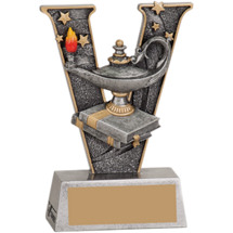 Victory Lamp of Learning Resin Trophy - 5""