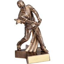 Baseball Trophy - 6 1/2 inch Male Baseball Star Resin Trophy