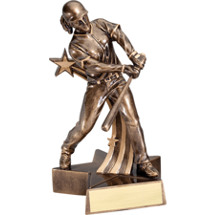 Softball Trophy - 6 1/2 inch Female Softball Star Resin Trophy