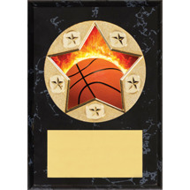 Basketball Plaque - Star Emblem Plaque