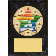"Education Plaque - 5 x 7"" Star Emblem Plaque"