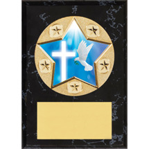 "Religious Plaque - 5 x 7"" Star Emblem Plaque"