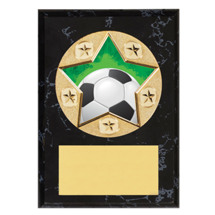 Soccer Plaque - Star Emblem Plaque