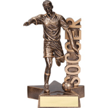 Soccer Trophy - 6 1/2 inch Male Soccer Star Resin Trophy