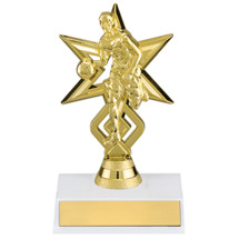 Gold Basketball Star Trophy - Male