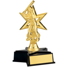 Girl's Gold Softball Trophy with Star Base