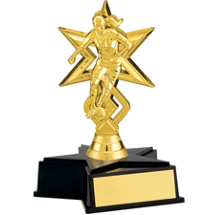 NEW! Girl's Gold Soccer Trophy with Star Base