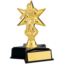 Boy's Gold Soccer Trophy with Star Base
