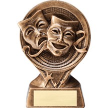 Drama Comedy/Tragedy Masks Resin Trophy - 6""
